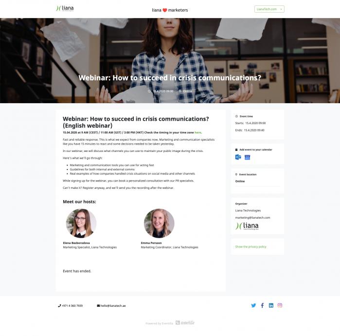 Liana Technologies webinar