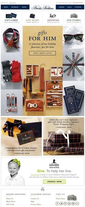 Brooks Brothers gibt Geschenkideen für ihn