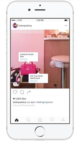 Produkte können direkt über Instagram gekauft werden