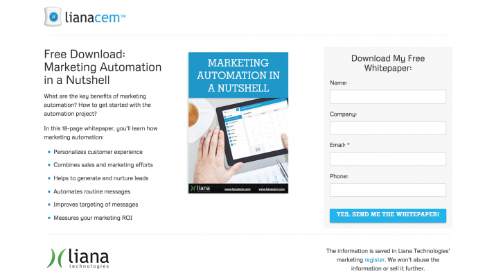 Marketing Automation Whitepaper Liana Technologies